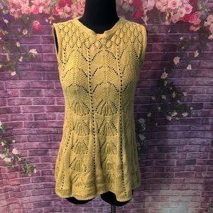Anthro Angel of the North Knit Sleeveless Sweater